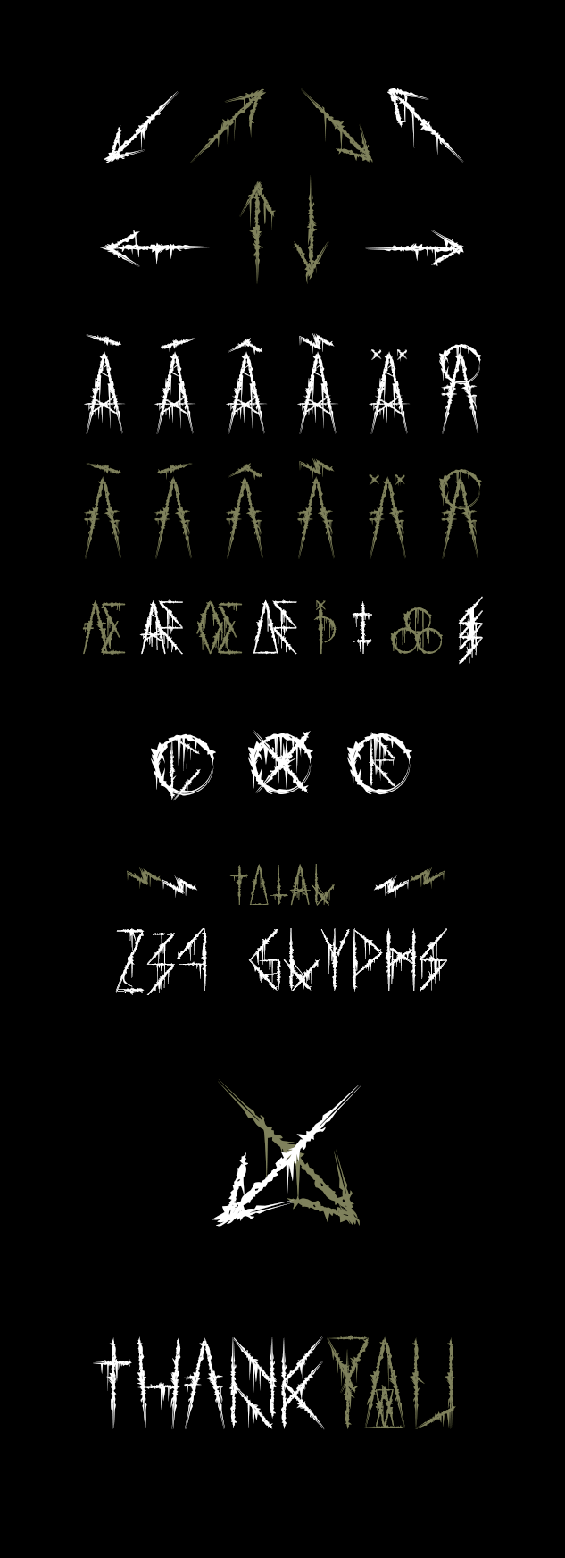 Atuvuta fonts of chaos numbers roman numbers punctuations symbols fun available in f and otf last but not least i give you a d with more symbolics characters biocorpaavc Image collections